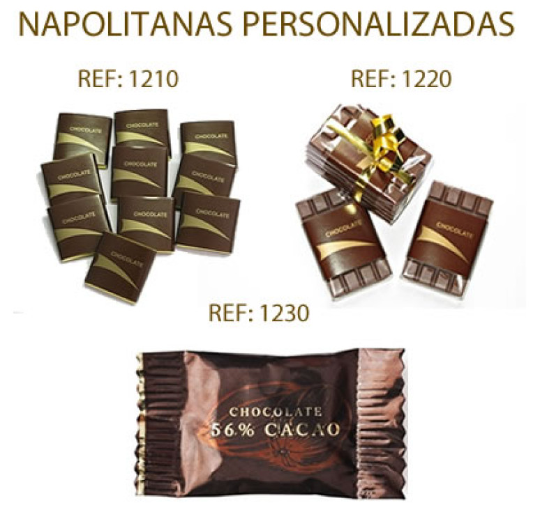 Napolitanas personalizadas